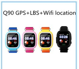 Wholesale Apple Wifi - Q90 Bluetooth Smartwatch with GPS WiFi LBS for iPhone IOS Android Smart Phone Wear Clock Wearable Device Smart Watch 3 Colors