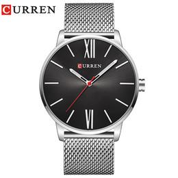 29fe5b0d4ad Marca do relógio CURREN Marca 2017 tops Simples Minimalismo luxo Quartz  Relógios de pulso para homens relogio masculino preto   ouro de aço  inoxidável 8238 ...