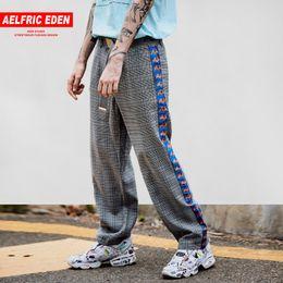 Pistola de pantalón online-Aelfric Eden Side Striped 3D Gun Print Casual Pantalones Hombres 2018 Moda Harajuku Sweatpants Inglaterra Style Joggers Streetwear Et15
