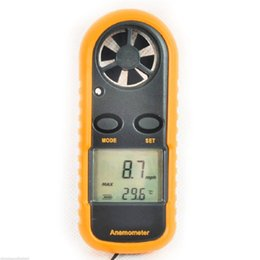 winds instrument UK - Mini Digital Hand-held Anemometer Thermometer Wind Speed Gauge Meter 30m s Windmeter Wind Speed Measuring Instrument