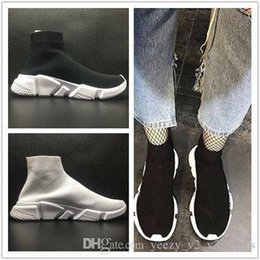Wholesale Womens Slip Sneakers - B alenciaga Mens and Womens Casual Shoes Zoom Slip-on Speed Trainer Low Mercurial XI Black High Fashion help Socks shoes Sneakers