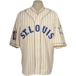 logo livraison gratuite Promotion St. Louis Stars 1931 Home Jersey 100% Stitched Embroidery Logos Vintage Baseball Jerseys Custom Any Name Any Number Free Shipping