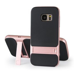Wholesale Import Case - For Samsung s7 Case with Bracket,Drop,Imported TPU+PC Checked Soft Shell,Fit for Kids,Boys,Girls