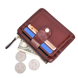 Wholesale Metal Square Letter Beads - Leather Men's Credit Card Holder Women Metal Bank Name Business Card Case Card Box
