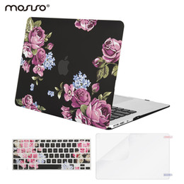 Wholesale Macbook Air Skin Protector - Mosiso Floral Shell Hard Case for Macbook Air 13 2017 2016 2015 2014 2013 + Silicone Keyboard Skin cover + Screen Protector