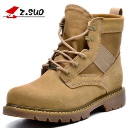 Wholesale Desert Tan - New Military Boots outdoor Desert Tan combat army boots male shoes Men Tactical boots