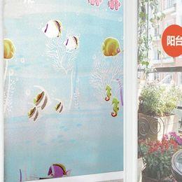 Wholesale Cheap Decorative Paper - Cheap stickers uv Decorative Frosted Glass Anti-UV Window Stickers Self Adhesive Home Decor Film Wintersweet Color Lattice 45cmX 2m