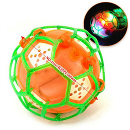 Wholesale Flashing Bouncing Kids Balls - 1PC New 2018 Kids Gifts Popular Vibrating Light-Up Self Bouncing Ball Flashing Dancing Kids Soccer Toys Random Color