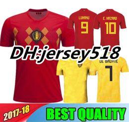 Wholesale Manning S - Thail Quality 2018 World Cup Belgium Soccer Jersey 2018 Home Away LUKAKU FELLAINI E.HAZARD KOMPANY DE BRUYNE 18 19 Belgium football shirt