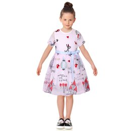 8f9435d76dd Robe Fille Enfant Toddler Girl Dresses Summer 2017 Brand Kids Dress with  Sashes Character Princess Party Dress Girls Clothes