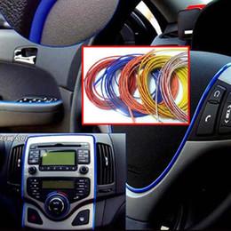 Wholesale 3m vinyl wholesale - 2PCS 5meters DIY Car 3M Strip Sticker Car Interior Decoration Line Sticker Accessories MOULDING Trim Decorative Strip color Line