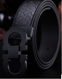 Wholesale Alloy Stock - in stock with box New Fashion Mens Business Belts Luxury Ceinture Automatic Buckle Genuine Leather Belts For Men Waist Belt Free Shipping