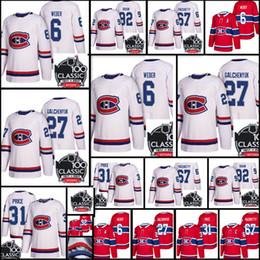 Wholesale Alex Galchenyuk Jersey - 2018 Men's #31 Carey Price 27 Alex Galchenyuk 67 Pacioretty 6 Weber 92 Drouin Jersey New Montreal Canadiens 100 Classic Authentic Jerseys