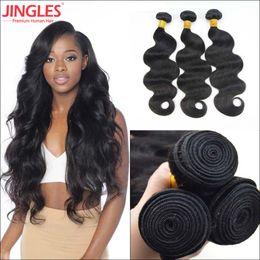 human hair extensions black women 2019 - 8A Jingleshair 3 4 PCS bundles  Virgin Human Hair 8ebf56ac89