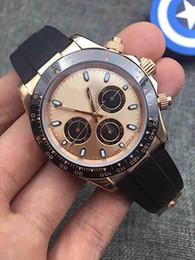 Wholesale watch orange bezel - 2018 High quality mens mechanical watch.Rubber band. original steel clasp.Luxury mens automatic movement watches mens date ceramics bezel 04