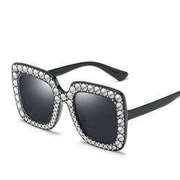 9c1b10d454 Luxury Oversized Shades Female Sunglasses Imitation Diamond Sun Glasses  Anti-UV Spectacles Vintage Eyeglasses for Goggle Eyewear