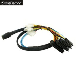 Canada MINI SAS 4i SFF-8087 36P à SAS 29Pin Sff 8482 avec câble d'alimentation 1m Livraison gratuite en gros Offre