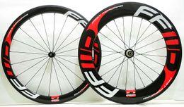decalques ffwd Desconto 700C Frente 50mm Traseira 88mm profundidade rodas de carbono 25mm largura Clincher / Tubular rodado de bicicleta de estrada de fibra de carbono com decalques FFWD