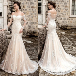 6e85ad558c0e China Design Long Sleeves Wedding Dresses 2019 Sweetheart Court Train Lace  Appliques Tulle Mermaid Bridal Gowns