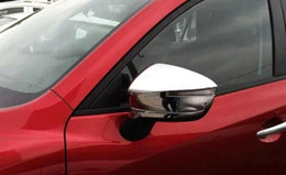 Wholesale Mazda Door Chrome - High quality ABS with Chrome car door Mirror decoration Cover,Side Mirror protection Cover for MAZDA CX-5 2012-2016