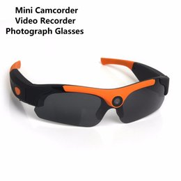 Wholesale Green Photographs - SM16 1080P Video Recording Sunglasses 120 Degree Angle Photograph Glasses Sports Driving Camera Eyewear Recorder Support TF Card