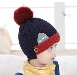 Wholesale Kids Hat Cotton - 2018 new winter caps wool hot discounts price for child kids boys