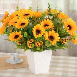 Ipek Yapay Gelin Sahte Çiçekler Buket Düğün Parti Süslemeleri Simülasyon Ayçiçeği Ev Odası Dekor Sahne Için 8 9 hh ZZ nereden
