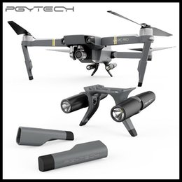 Wholesale Dji Drone - PGYTECH Extended Landing Gear Leg Support Protector Extension LED Headlamp Front Bright set For DJI Mavic Pro Drone Accessories