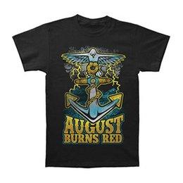 camicia di ancoraggio rossa Sconti Maglietta Slim Fit di August Burns Red Men's Anchor nera Moda 2018 Stampa Summer Novelty T-Shirt O-Collo allentata di alta qualità Spedizione gratuita