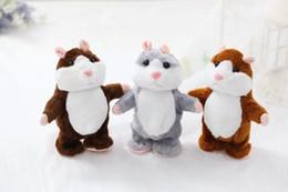 Wholesale Christmas Hamster - Cute 15cm Anime Talking Hamster Plush Cartoon Doll Toys Kawaii Speak Talking Sound Record Hamster Talking Christmas Gifts for Kids Children