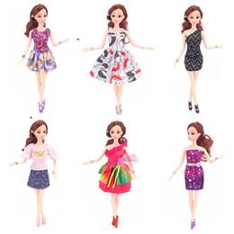 Wholesale doll socks wholesale - Barbie Doll Fashion Short Skirt Exquisite Dolls Apparel Dress Clothes Suit Fit For 28 To 30 CM Barbies 1 85jg WW