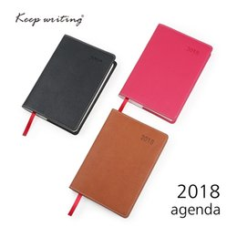 Wholesale Calendar Notebook - 2018 Calendar Weekly Planner A6 Diary Notebook 106 sheets 80gsm paper school stationery small agenda Journal notes pocketbook