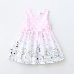 Wholesale Graffiti Dresses Wholesale - Everweekend Lovely Kids Girls Print Dots Sweet Dress Western Graffiti House Cute Dress Summer Fashion Cotton Dress