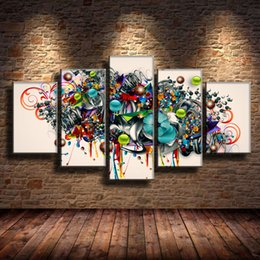 Colorful Abstract Garland -3,5 Pieces Home Decor HD Printed Modern Art Painting on Canvas (Unframed Framed)