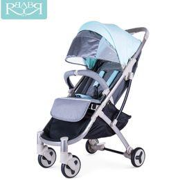 Wholesale kinderwagen stroller - Babyruler lightweight Portable baby stroller mini size baby carriage 3 in 1 Pram Pushchairs can sit or lie children Kinderwagen