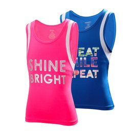 Wholesale Dry Suits For Women - Pink Sports Vest Female Fitness For Girl Tight Suit Sport Vests For Women Yoga Shirt Quick Dry Paddy Sexy Hot T-Shirt