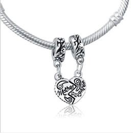 198199fc9 Mother & Daughter Connected Drop Dangle Pendants Fit Charms Bracelet  Wholesale Designs for Love Girls Mom Beads Fit Pandora Bracelets Spacer
