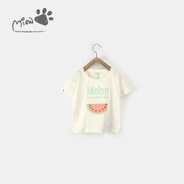 8 Fotos 13 NUEVOS juegos de camisetas girs Kids 100% algodón a cuadros con un diseño de sandía niña de verano camiseta causal chica + pantalón ropa niños desde fabricantes