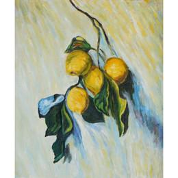 pinturas de limón Rebajas Rama de arte moderno de un árbol de limón Claude Monet pinturas al óleo lienzo decoración de la pared pintada a mano