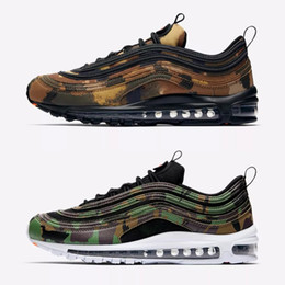 Wholesale Italy Canvas - 2018 New Maxes97 Premium QS Country Camo Pack Italy UK Mens Running Shoes Max97 97 Man Authentic Sports Sneakers Size 40-46