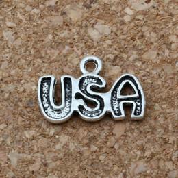 2019 antiquités américaines USA Charms Pendentifs 300Pcs / lot Vente chaude Antique Silver Jewelry DIY 10.5 x15.5mm A-169 antiquités américaines pas cher