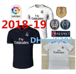 Wholesale Ronaldo Real Madrid Jersey - New 18 19 Real madrid Soccer Jersey Ronaldo Modric Kroos Sergio Ramos Bale 2018 2019 ASENSIO ISCO football Shirt Champions League uniform