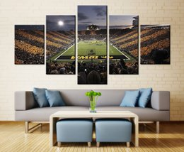 Wholesale Team Wall - Iowa Hawkeyes Football Sport Team Wall Art Painting Print on Canvas for Living Room Decor 5PCSSet (Frameless)