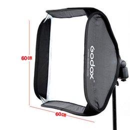 Soporte de godox online-Caja de luz Ajustable Godox profesional de 60 cm * 60 cm para Flash Shoot de Speedlite Studio sin soporte de tipo S