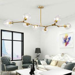 Wholesale modern pendent lights - Lindsey Adelman Globe Branching Bubble Chandelier 110V220V Nordic Modern Chandelier Light Lighting Pendent Lamp Glass Ball Lamp