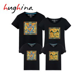 Wholesale Couple Outfit Clothing - Hughina Chinese Carton Dragon-phoenix matching clothes for couples Family matching clothes family matching outfits t-shirts 1635
