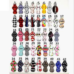 Wholesale lip printing - Sports Balls Leopard Rainbow Prints Neoprene Chapstick Holder Lip Balm Wrap Keychian Wrap Carry Case Gift QW7573