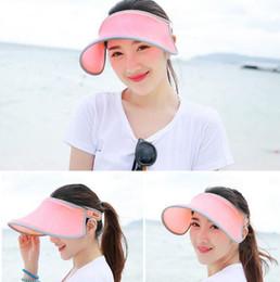 842cc162686 Summer fashion sun hats women high quality beach empty top hat anti-UV  sunbonnets ladies girls outdoor sports adjustable cap nice visors discount  empty sun ...
