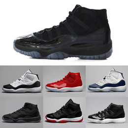 Wholesale Black Varsity - 11 11s Prom Night XI basketball shoes men women high gym red Midnight Navy concord bred Varsity Red legend blue sports Sneaker shoes