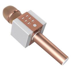 Wholesale Karaoke Magic Sing - 2018 NEW Karaoke ktv singing player microphone speaker magic microphones bluetooth wireless speaker with gift box DHL Free ship